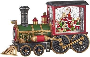 "Raz Imports Holiday Water Lanterns 12.25"" Santa'S List Musical Lighted Water Train - Premium Christmas Holiday Home Decor"