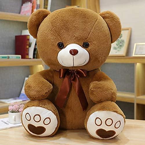 YWKXROM 5 Colores Hermoso Arco Nudo Oso de Peluche muñeca muñeca Animal Oso de Peluche Juguete Amantes niña cumpleaños bebé Regalo de bebé 35 cm C. (Color : D, Size : 60cm)