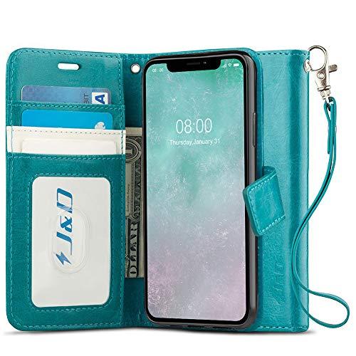 J&D Compatibile per Apple iPhone 11 PRO Max Cover, [RFID Blocco Portafoglio] [Sottile Adatta] Protettiva Robusta Antiurta Flip Custodia per iPhone 11 PRO Max - [Non per iPhone 11/iPhone 11 PRO]