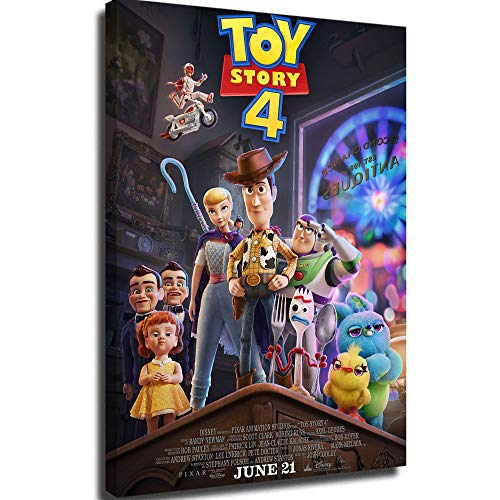 Poster Painting Picture Canvas Oil Painting Wall Art Poster Toy Story 4 Art Print Movie Posters 12x16inch