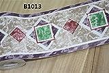 Borde del papel pintado Tela escocesa púrpura Auto Adhesivo del Papel Pintado del PVC Cenefa autoadhesiva para decoración de pared de cocina, baño10cmX10m