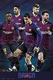 Close Up FC Barcelona Poster Mannschaft Saison 2018/2019
