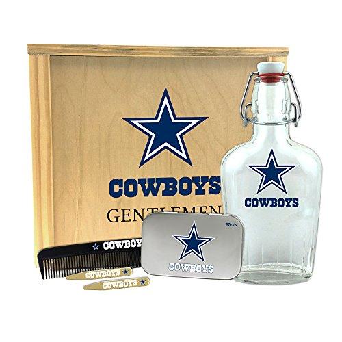 "Worthy Promo NFL Dallas Cowboys Gentlemen's Gift Box-Toiletry Edition 1-250 ml Glass Swing-Top Bottle, 10"" x 9"" x 3.75"""
