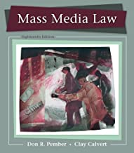 Mass Media Law by Pember, Don Published by McGraw-Hill Humanities/Social Sciences/Languages 18th (eighteenth) edition (201...