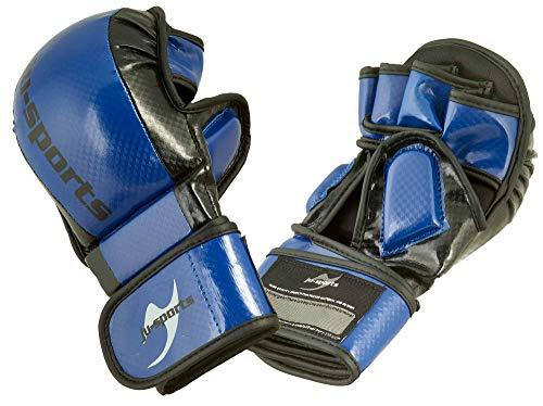 Ju-Sports MMA/Allkampf Sparring Handschuh Carbon blau (M)