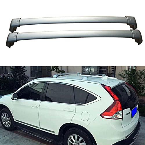 2 piezas Bacas para vehículos Barras de techo de aluminio para CRV CR-V 2012-2016, portaequipajes de techo con barra transversal para equipaje de bicicleta para viajes