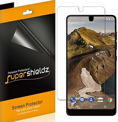 (2 Pack) Supershieldz for Essential Phone Screen Protector, (Full Coverage) 0.23mm High Definition Clear Shield (TPU)