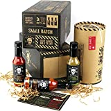 Gourmet Hot Sauce Gift Set, 3 Bottles, Ghost Pepper, Chipotle, Jalapeno Father's Day Sampler for Dad