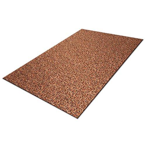Schmutzfangmatte Karat in XXL Größen | Baumwolle | nimmt Feuchtigkeit und Schmutz zuverlässig auf | braun | Größe wählbar (200x400cm)