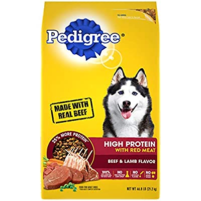 PEDIGREE High Protein – Beef and Lamb Flavor Adult Dry Dog Food, 46.8 Pound Bag