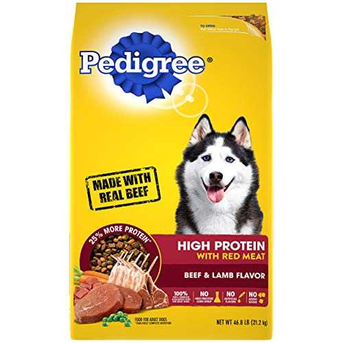 PEDIGREE High Protein Adult Dry Dog Food Beef and Lamb Flavor Dog Kibble, 46.8 lb. Bag