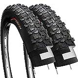 Fincci Paire 20 x 1,75 Pouces 47-406 Pneus pour VTT BMX Montagne Tout Terrain ou Enfants Vélo Bicyclette (Un Paquet de 2)