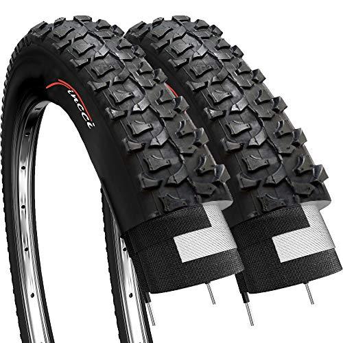 Fincci Par 20 x 1,75 Pulgadas 47-406 Cubiertas para BMX MTB Montaña Fuera del Camino o Niños Bici Bicicleta (Paquete de 2)