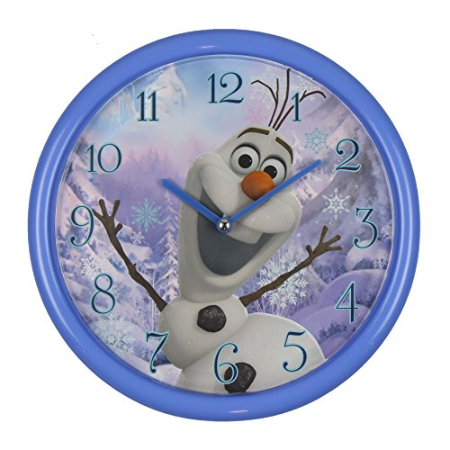 Disney Frozen Olaf Kinder Wanduhr, Metall, Mehrfarbig, 260 mm