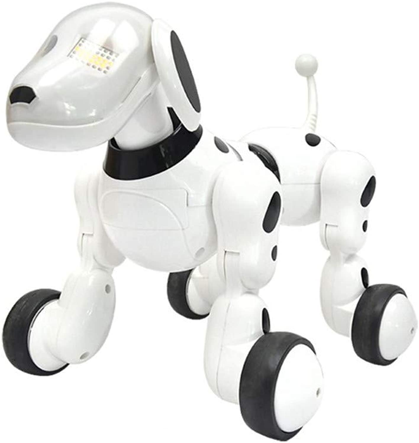 Tang Queen TQ Robot Dog Toys Gift for Boys Girls Kids with Interactive Speak Touch Gesture Remote Control(White)