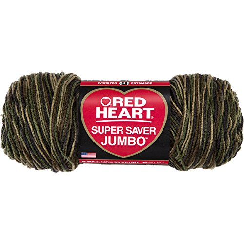 "Red Heart ""Super Saver Jumbo"" Strickgarn, 073650013508 Camouflage"