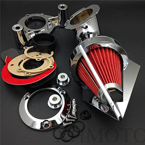 Triangle Air Cleaner Kits pour 2008–2012 Harley Dyna Electra Glide Flhx Road King Chrome