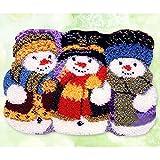 Kit De Gancho De Pestillo De Bricolaje Crochet Needrowork Crafts Kits De Bordado para Niños/Adultos Aguja Artesanía con Patrón De Lona Impresa(Size:52x38cm)