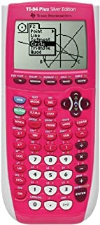 Texas Instrument 84 Plus Silver Edition graphing Calculator (Full Pink in color) (Packaging may vary) (Renewed)