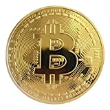 Moneda Bitcoin de Oro / Plata Bronce Bitcoins físicos Moneda Coleccionable Colección de Arte BTC Moneda Decoración Festiva Regalo físico-Dorado