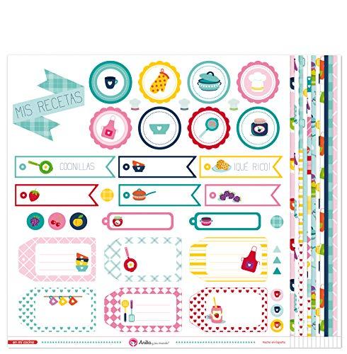 Anita y Su Mundo Colección En Mi Cocina Papeles de Scrapbooking, Paper, Multicolor, 30.5 x 30.5 cm