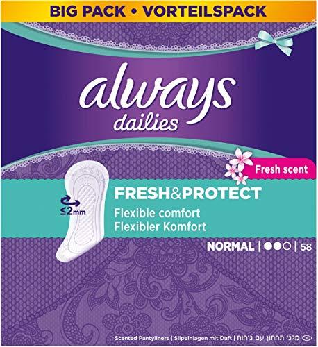Always - Dailies Flexistyle Normal - Inlegkruisjes - 58 Stuks