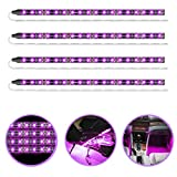 Geeon Pink Purple LED Strip Lights Waterproof 12V for Auto Car Truck Motorcycle Boat Interior Lighting UL Listed 30CM/12'' 2835 SMD Pack of 4