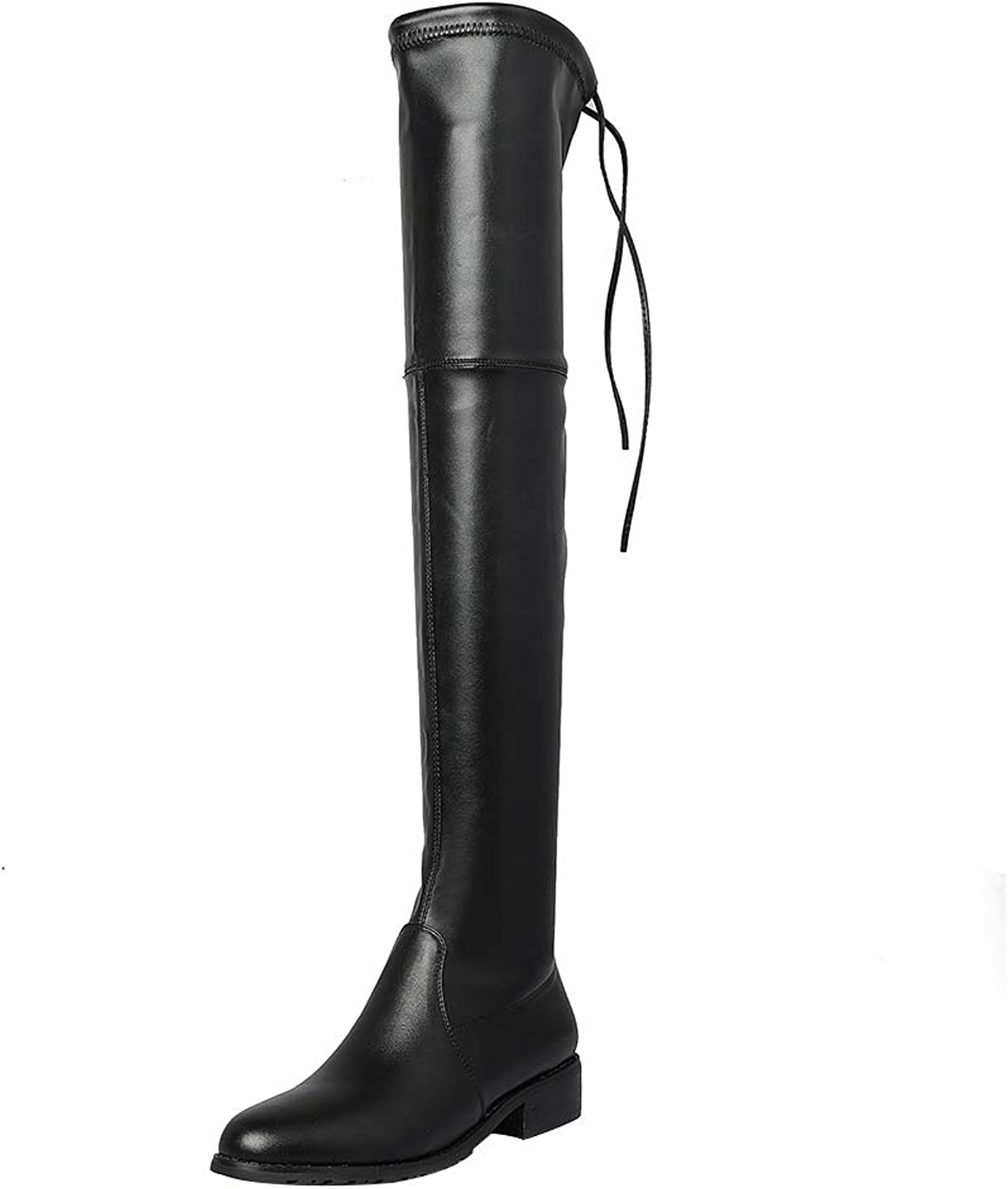 MAYPIE Womens Toannoy Leather Slip-on Over-The-Knee Boots