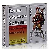 Rommé Doppel 2x55 Blatt Spielkarten