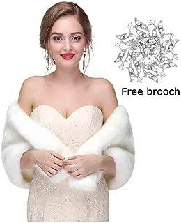 Women's Faux Fur Shawls Wraps Wedding Sleeveless Fur Wrap Shawl For Women 1920s Fur Stole Capelet