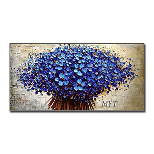 ZNYB Impresiones sobre Lienzo Diferentes Flores Pinturas al óleo Lienzo decoración del hogar Pared Hecha a Mano Pintura al óleo Cuadro de Pared Pinturas Coloridas Arte para Dormitorio
