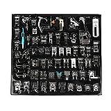 Juego de pies prensatelas para máquina de coser de 62 piezas, juego de accesorios para máquinas de coser para máquinas de coser Brother, Babylock, Singer, Janome, Elna, Toyota