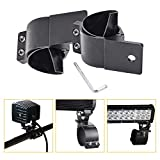 2.5in Tube clamp Mounting Bracket, 2.5 inch LED Light Bar mounting Bracket Bull bar Nudge bar mounts clamp kit Adjustable for Off Road Vehicle SUV ATV Boat