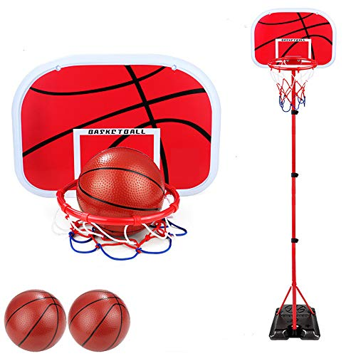 Alan 200cm Canasta Baloncesto Infantil Ajustable Aro de Baloncesto para Niños con 2 Bolas