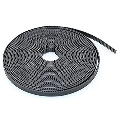 ARCELI 5m GT2-6mm open timing belt 6mm GT2 2GT belt for 3D Printer(timing Belt)