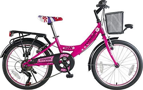20 Zoll Kinder City Fahrrad Kinderfahrrad Cityfahrrad Bike Rad Mädchenfahrrad Mädchenrad Bike Rad Cityrad 7 Shimano Gang Voltage Lady PINK TYT19-041
