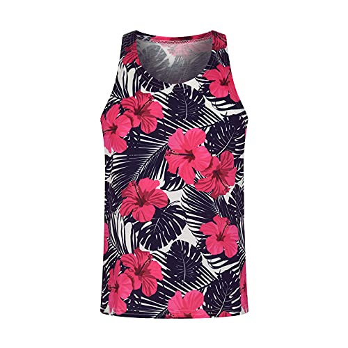 Mens SummerTank Tops Graphic Tees Short Sleeve Casual Hip Hop Tee Beach Shirts Basic Athletic Breathable Blouse Vest Red