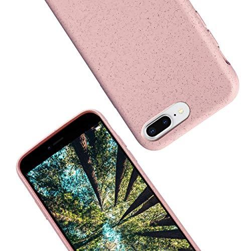 eplanita Eco iPhone 7/8 & 7/8 Plus Hülle, Biologisch abbaubar & Kompostierbar, Pflanzenfaser & weiche TPU, Drop-Schutz-Abdeckung, Umweltfre&lich Null Müll (7/8 / SE 2020, Rosa)