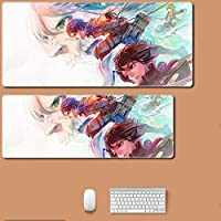 進撃の巨人ゲーム900x400mmXLXXLラージロッキングエッジゲーミングマウスパッドキーボードラバーマウスパッドテーブルコンピューターマットアニメマウスパッド進撃の巨人-A_800x300x3mm