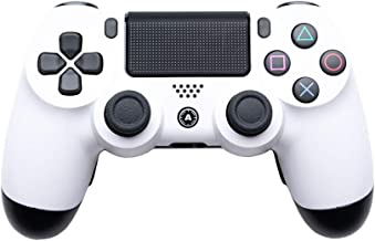 AimControllers PS4 Custom Wireless Controller, Playstation 4 Personalized Gamepad with 4 Paddles - White