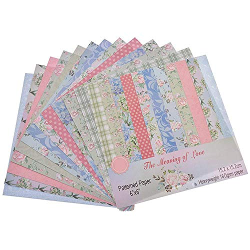 Nieuwe Aangekomen 12 Vellen/partij Rose Bloem Scrapbooking Art Art Achtergrond Papieren Kaart Maken DIY Plakboek Ambacht, 8