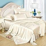Dream Bedding Satin Silk Duvet Cover Set 5 Pcs, Luxury Bedding Sets -Ultra