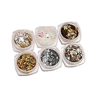 Snner 1Pack Glitter Nagel-Folien-Scheibe