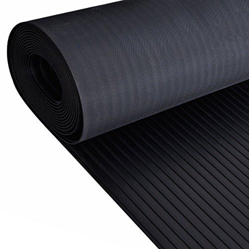 Rollo de piso ancho de goma acanalada | 4mm de espesor | 1.
