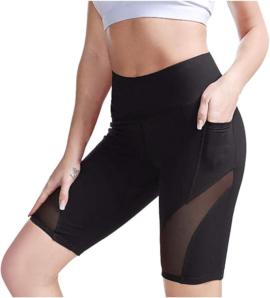 Shorts Women High Waist Hiking Active Running Workout Shorts Control Training Running Yoga Pants with Pockets