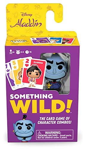 Funko 49357 Board Games 49357 Signature Something Wild Card Game-Aladdin - Genie, Multicolour