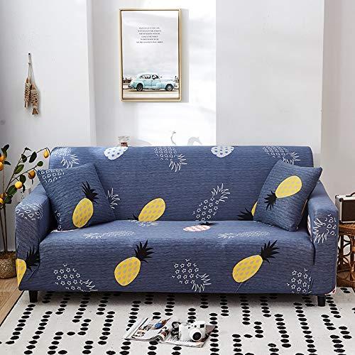ASCV Geometrisches Muster Elastische Sofabezug Stretch All-Inclusive-Sofabezüge für Wohnzimmer Couchbezug Sofabezüge A19 2-Sitzer