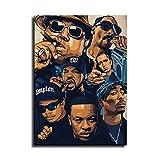 Poster mit Tupac Biggie Snoop Dogg, Leinwand-Kunst-Poster