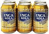Inca Kola Golden Carbonated Beverage Soda - la kola dorada - 12 oz cans - 6pk