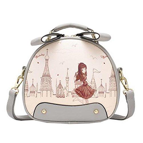 Loisirs élégant simple épaule sac à bandoulière Mode sac à main mignons dames belle copie ronde sac à bandoulière
